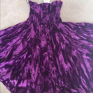 Betsy Johnson purple velvet dress