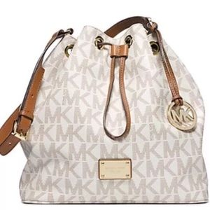 NEW Authentic Michael Kors Large Drawstring Bag