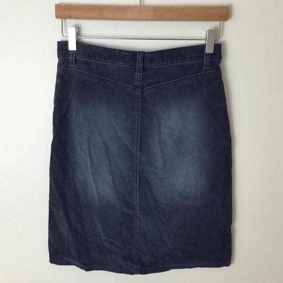 Kafa anca blue corduroy skirt