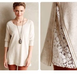 Anthropologie Lace Vent Tunic