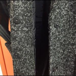 Sears Jackets & Coats - Mixed Media leather and Wool Coat