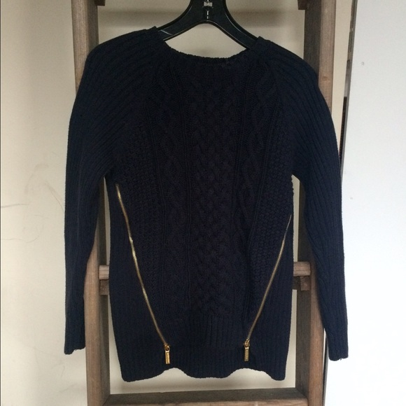 60% off Michael Kors Sweaters - Michael Kors Navy Blue Cable Knit ...