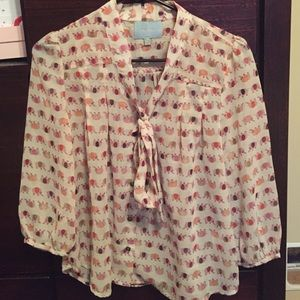 closet clear out! Elephant print top
