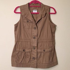 Old Navy Outerwear - Old Navy Khaki Cargo Vest, Size S