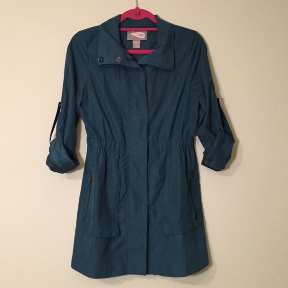 Forever 21 Jackets & Coats - Forever 21 Dark Teal Trench Style Jacket Size Sm