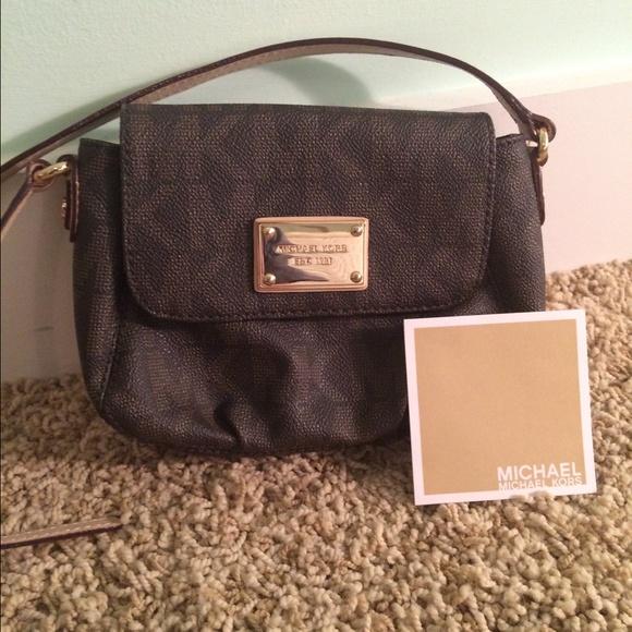13a015249f8b05 Michael Kors Bags | Signature Mk Small Flap Crossbody | Poshmark