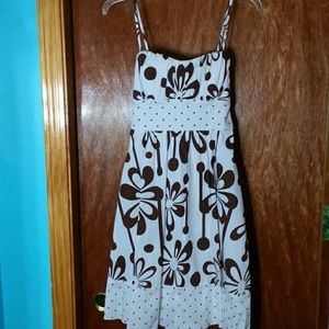 My Michelle Dresses & Skirts - Brown and white floral dress
