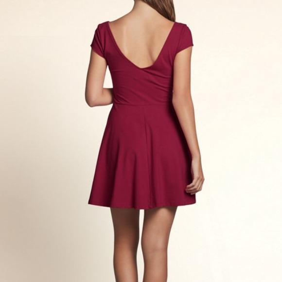 hollister sold hollister burgundy skater dress from