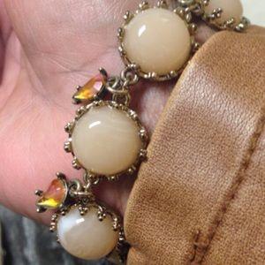 Tan Marbled Stone Bracelet