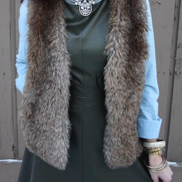 Thyme  Dresses - Thyme vegan leather sleeveless dress.