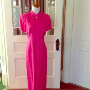Cynthia Howie Dresses & Skirts - Maggy boutique hot pink linen dress