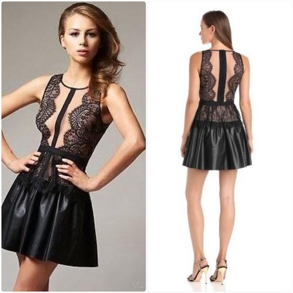 BCBGMaxAzria Dresses   Skirts - BCBG Black   Nude Lace Dress ec7d156f3