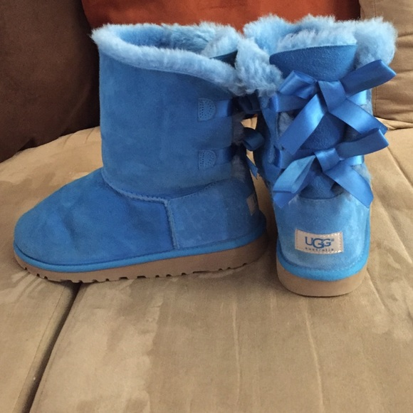Baby blue Bailey bow UGGS