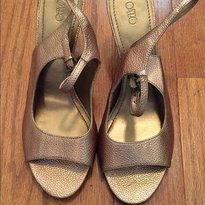 Brand New Bronze Sandals!! NWOT