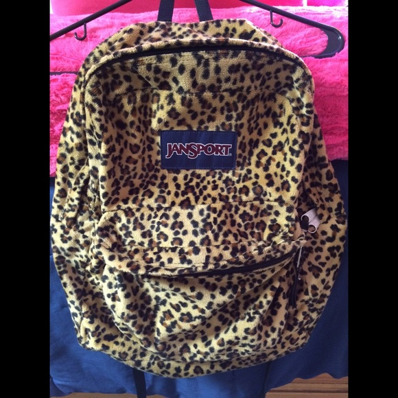 38% off Accessories - Fuzzy leopard Jansport from Dani's closet on ...