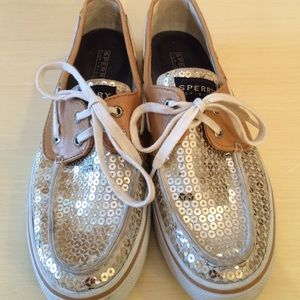 Sperry Top-Sider Bahama Gold Sequined Boat Shoe
