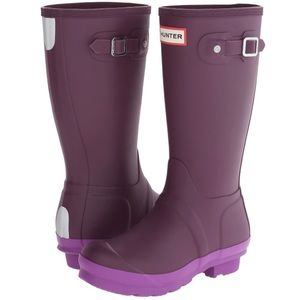 HUNTER Original Contrast Rain Boots Purple plum 7