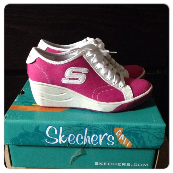 skechers rubber shoes with heels
