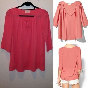 Everly Clothing 3/4 Sleeve Blouse