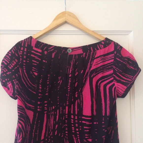 Valette Tops - Graphic print silk top