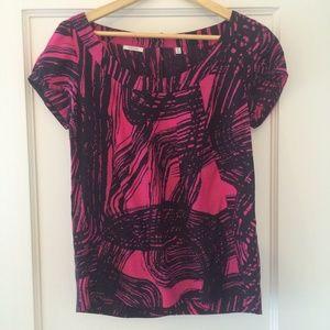 Valette Tops - Graphic print silk top