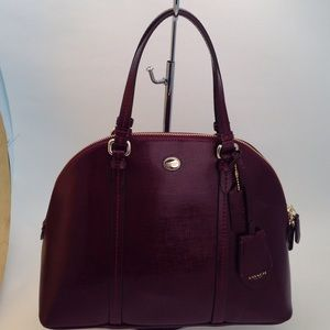 NWT Coach Cora Satchel in Sherry
