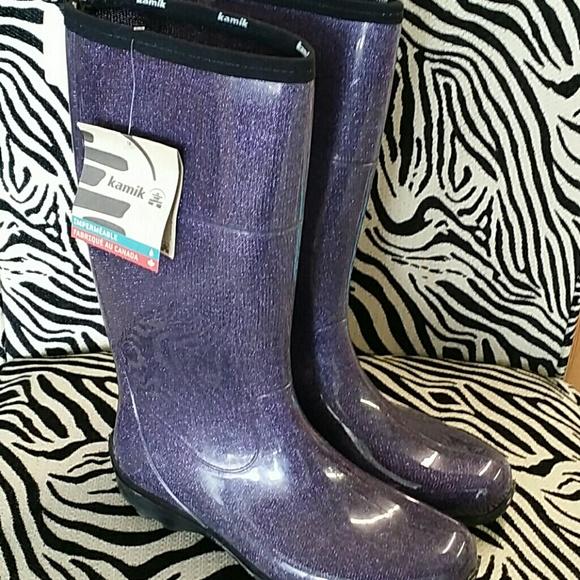 Nwt Womens Sz 1 Kamik Purple Glitter