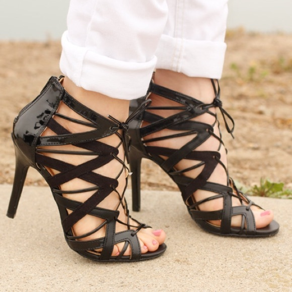 target lace up heels