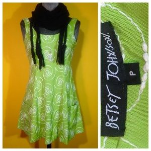 Vintage '90s Betsey Johnson embroidered Dress
