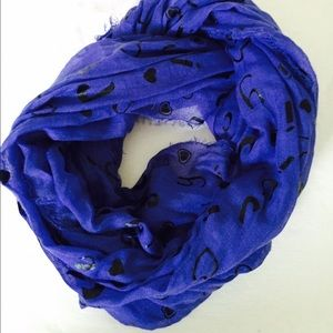 Juicy Couture Royal Blue Scarf