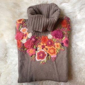 Anthropologie Sweaters - 🎉2XHP🎉 Anthropologie Floral Embroidered Sweater