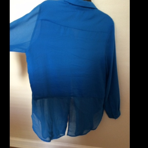 75 off pleione tops pleione royal blue blouse nwot size for Do gucci shirts run small
