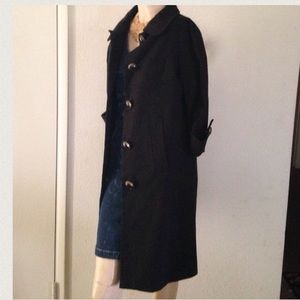 NEW VERTIGO Paris Black Trench Coat Knee Length S