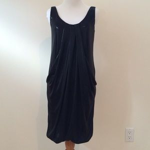 DVF shimmer black flapper dress