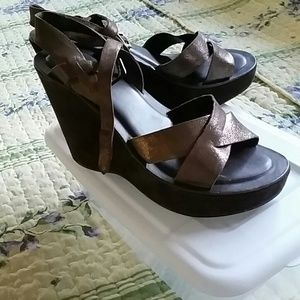 KORK-EASE  brown theather wedges