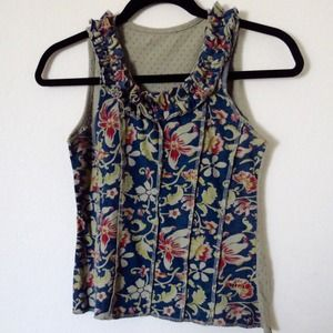 Chipie Tops - Ruffle printed top made in France