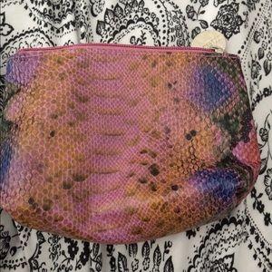 Accessories - Snake skin makeup bag