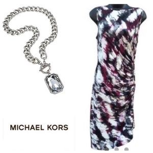 NWOT Michael Kors Fitted Watercolor Dress