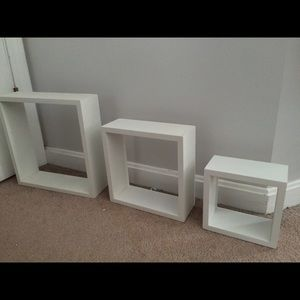 Other - 3 white boxes to hang on your wall