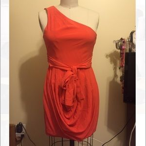 Alice & Olivia sz 0, one shoulder silk dress