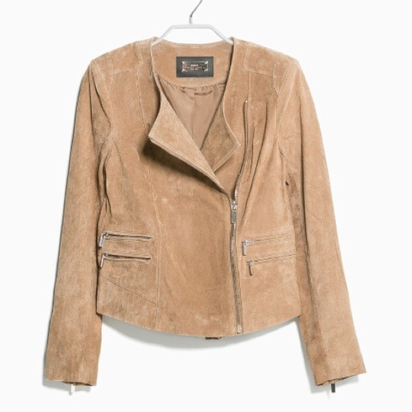 621035dec232 Mango Suede Biker Jacket