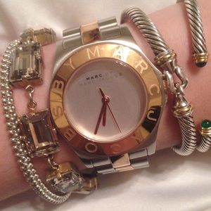 Marc Jacobs Silver + Gold Watch PRICE DROP