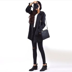 Black Boyfriend style jacket/trench coat