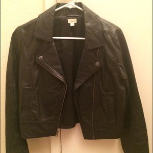 Black Nordstrom leather jacket