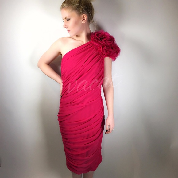 Dark pink cocktail dress