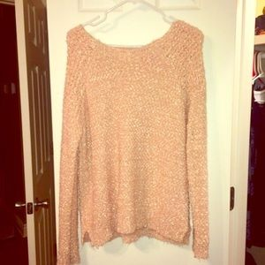 Forever 21 pink soft cashmere sweater oversized