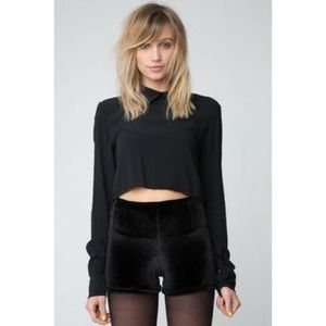 Brandy Melville Bruna velour shorts