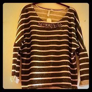 Macy's Rebel Sky beige/black sweater
