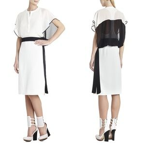 BCBG black and white Runway dress 2015 bnwt!