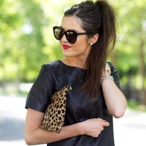 Accessories - Sunglasses oversized black round vintage inspired